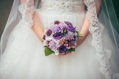 Flowers wedding bride groom Royalty Free Stock Image