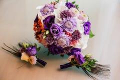 Flowers wedding bride groom Stock Photography