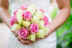 Flowers wedding bride ring Stock Images