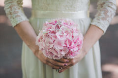 Flowers wedding bride rings Royalty Free Stock Images