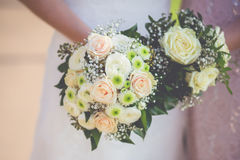 Flowers wedding decoration. Bride Stock Image