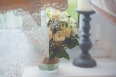 Flowers wedding decoration rings. Bride Royalty Free Stock Image