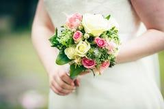 Flowers wedding decoration rings. Bride Stock Photos