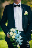 Flowers wedding decoration. Rings bride Royalty Free Stock Photography