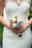 Flowers wedding decoration rings. Bride Stock Photo