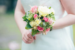 Flowers wedding decoration rings. Bride Royalty Free Stock Photography