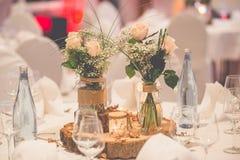 Flowers wedding decoration. Flowers wedding table decoration Royalty Free Stock Image
