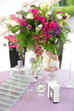 Flowers at the wedding Stock Images
