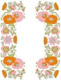 Flowers on white background folk art style Ethnic flowers Floral folk art Folkart Flower pattern Vintage background Vector illustr Royalty Free Stock Images
