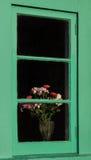 Flowers In Window Stock Photos