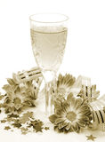 Flowers and wine Stock Photos