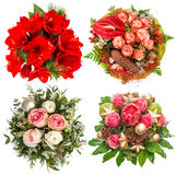 Flowers for Winter Holidays. Roses, amaryllis, protea Stock Photography