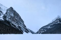 Frozen Lake Louise royalty free stock photos