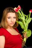 flowers woman Стоковые Фотографии RF
