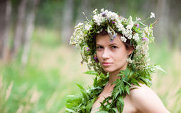 Flowers Woman Wreath Royalty Free Stock Images