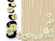 flowers on wood Stock Image