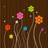 Flowers on Wood Stock Photography