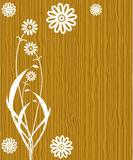 Flowers on wood background Royalty Free Stock Photos
