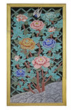 Flowers, wood carving Royalty Free Stock Image