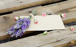Flowers on wooden background. Royalty Free Stock Photography