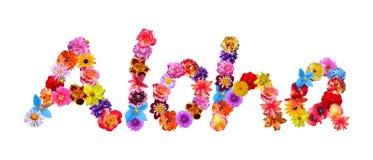 Flowers Word Aloha Stock Images