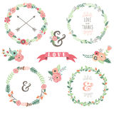 Flowers Wreath Collections Royalty Free Stock Photos
