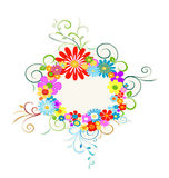 Flowers wreath Stock Photo