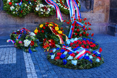 Flowers and Wreaths in Prague stock photo