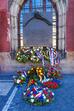 Flowers and Wreaths in Prague Royalty Free Stock Photos