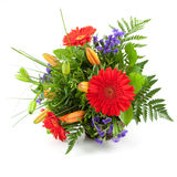 Flowers for you. A bouquet isolated on white Stock Photography