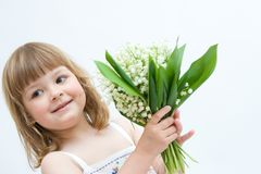 Flowers for you, mum! Royalty Free Stock Photos