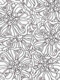Flowers zentangle Stock Photography