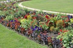 Flowersbeds from Jardin du Luxembourg from Paris in France. Flowerbeds from Jardin du Luxembourg from Paris in France on july 18th 2015 stock image
