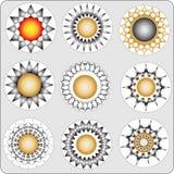 Flowerses-estrelas abstratas Fotos de Stock