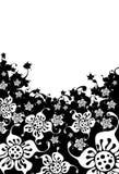 flowersessilhouette Royaltyfri Illustrationer