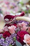 Flowershop operato Fotografia Stock Libera da Diritti