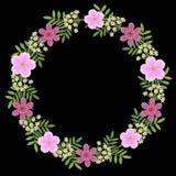 Flowerting wreath Stock Image