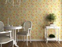 flowery εσωτερική ταπετσαρία Στοκ Εικόνα