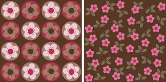 Flowery πρότυπο Στοκ Φωτογραφίες