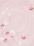 Flowery. Abstract floral frame,  illustration, pink Stock Photos