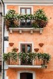Flowery balcony, pescasseroli Stock Images