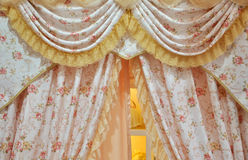 Flowery curtain Stock Photography