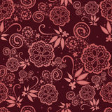 Flowery design with lace in Marsala tones Stock Photography