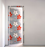 Flowery door Stock Photo