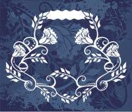Flowery emblem background Stock Photo