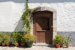 Flowery entrance Stock Photography