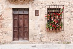 Flowery entrance Royalty Free Stock Photos