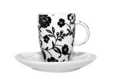 Flowery espresso cup Royalty Free Stock Photos