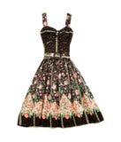 Flowery evase sweetheart dress. Isolated on white background Royalty Free Stock Image