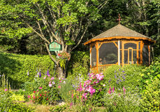 Flowery gazebo Stock Photos